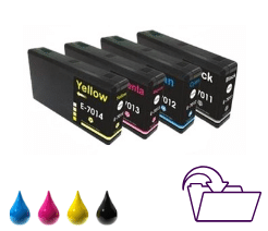 Tusze EPSON T7011-T7014