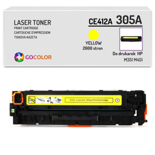 Toner do HP CE412A 305A M351 M451 Yellow Zamiennik