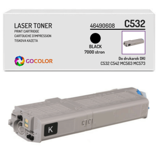 Toner do OKI C532 C542 MC563 MC573 dn, 46490608 Black zamiennik