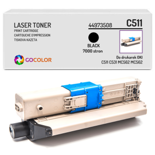Toner do OKI C511 C531 MC562 MC562 dn, dnw, 44973508, Black zamiennik