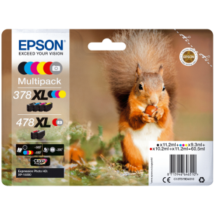 Epson oryginalny tusz 378XL+478XL T379D4 Multipack