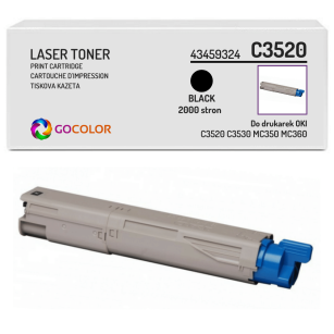 Toner do OKI C3520 C3530 MC350 MC360 mfp, 43459324 Black zamiennik