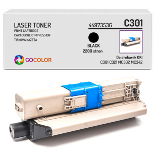 Toner do OKI C301 C321 MC332 MC342 dn, dnw, 44973536 Black zamiennik