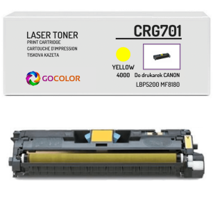 Toner do CANON CRG701 9284A003 Yellow Zamiennik