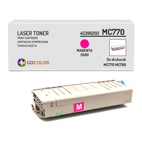 Toner do OKI MC770 MC780 45396202 Magenta Zamiennik