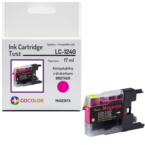 Tusz do BROTHER LC-1240 Magenta zamiennik