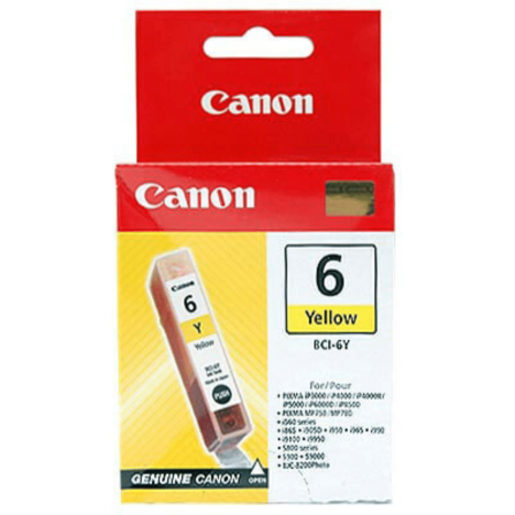 Canon oryginalny Tusz BCI6Y yellow 280s 4708A002 Canon