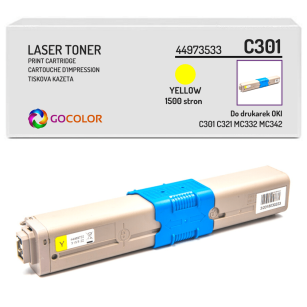Toner do OKI C301 C321 MC332 MC342 dn, dnw, 44973533 Yellow zamiennik