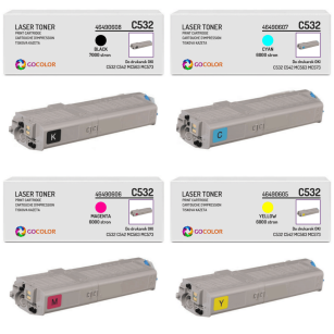 4 X Toner do OKI C532 C542 MC563 MC573 46490608 46490607 46490606 46490605 zamiennik