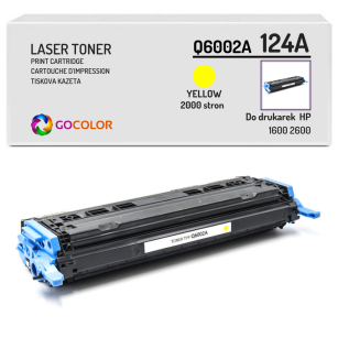 Toner do HP Q6002A 124A 1600 2600 Yellow Zamiennik