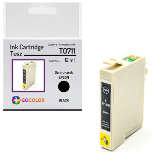 Tusz do EPSON T0711 Black Zamiennik