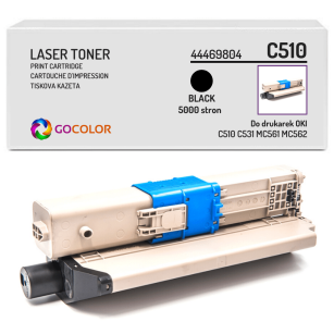 Toner do OKI C510 C511 C530 C531 MC561 MC562 dn, dnw, 44469804 Black zamiennik