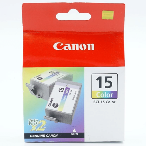 Canon oryginalny Tusz BCI15C color 8191A002 2szt.