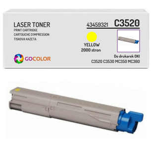 Toner do OKI C3520 C3530 MC350 MC360 mfp, 43459321 Yellow zamiennik