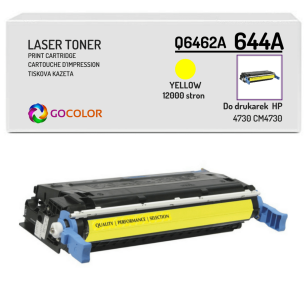 Toner do HP Q6462A 644A 4730 CM4730 Yellow Zamiennik