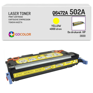 Toner do HP Q6472A 502A 3600 Yellow Zamiennik