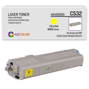 Toner do OKI C532 C542 MC563 MC573 dn, 46490605 Yellow zamiennik