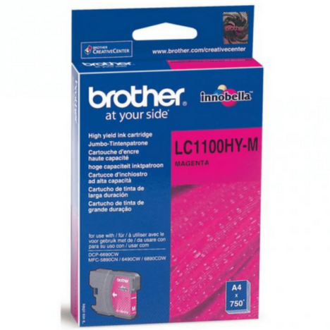 Brother oryginalny Tusz LC-1100HYM magenta high capacity