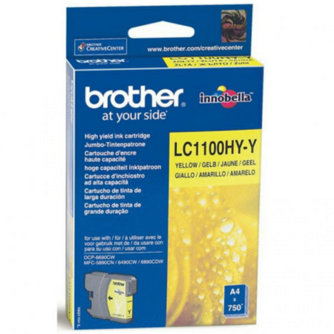 Brother oryginalny Tusz LC-1100HYY yellow high capacity