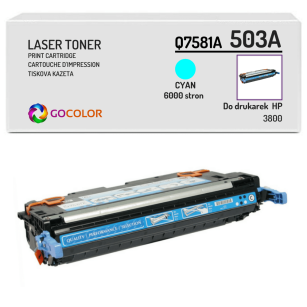 Toner do HP Q7581A 503A 3800 Cyan Zamiennik