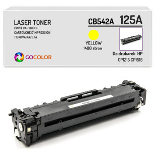 Toner do HP CB542A 125A CP1215 Yellow Zamiennik
