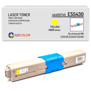 Toner do OKI ES5430 ES3451 ES5461 44469740 Yellow zamiennik
