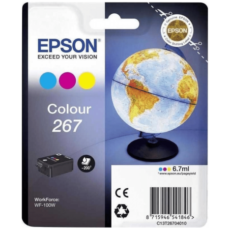 Epson oryginalny tusz T2670 267 color