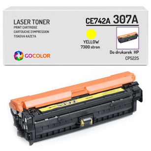Toner do HP CE742A 307A CP5225 Yellow Zamiennik