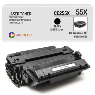 Toner do HP CE255X 55X P3015 M525 Zamiennik