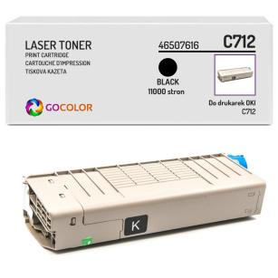Toner do OKI C712 n, dn, 46507616 Black zamiennik