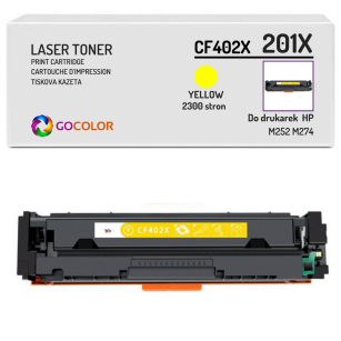 Toner do HP CF402X 201X M252 M274 Yellow Zamiennik