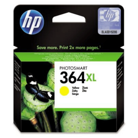 HP oryginalny Tusz CB325EE 364XL yellow