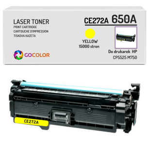Toner do HP CE272A 650A CP5525 M750 Yellow Zamiennik