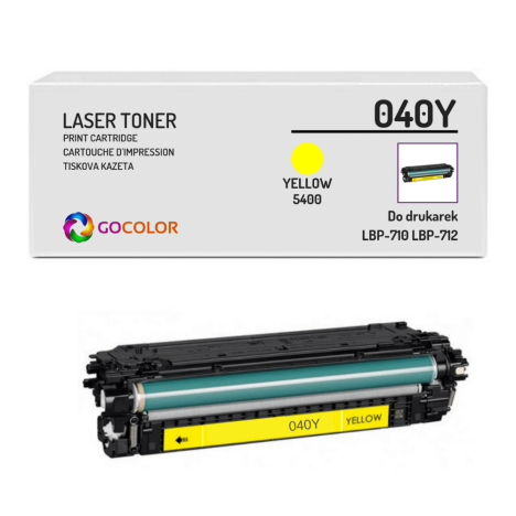 Toner do CANON CRG040 040Y 0454C001 Yellow Zamiennik