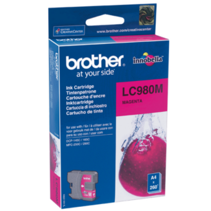 Brother oryginalny Tusz LC-980M magenta