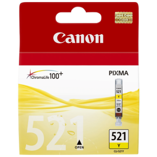 Canon oryginalny Tusz CLI521Y yellow 9ml 2936B001 iP3600 iP4600 MP620 MP630 MP980