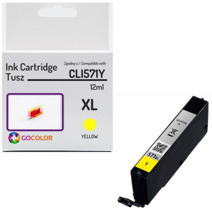 Tusz do CANON CLI571Y XL 0334C001 Yellow 100 % nowy zamiennik