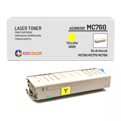 Toner do OKI MC760 MC770 MC780 45396301 Yellow Zamiennik