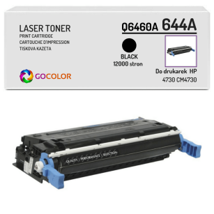Toner do HP Q6460A 644A 4730 CM4730 Black Zamiennik