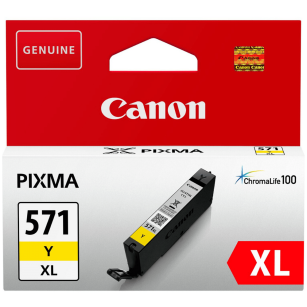 Canon oryginalny Tusz CLI571Y XL 0334C001 yellow 11ml  high capacity PIXMA MG5750 MG7750